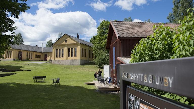 en vy över Långbans gruvby. Foto: Lars Sjöqvist/Värmlands museum