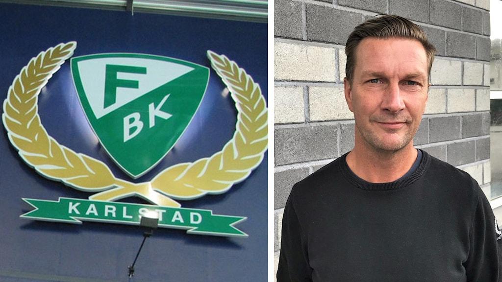 FBK:s klubbmärke, Johan Pennerborn. Foto: Mats Fagerström/Sveriges Radio.
