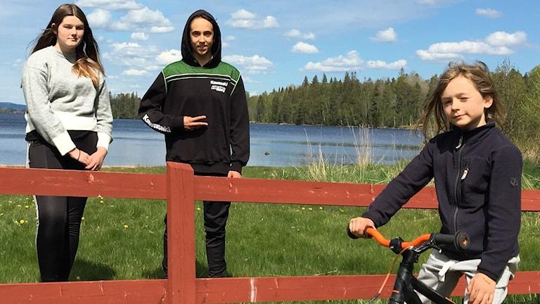 Crossläger i Kil med deltagarna Fanny Eriksson, Jacqueline Löfqvist, Lilly Sandberg. Foto: Jonas Berglund/Sveriges Radio