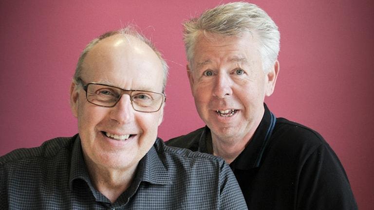Gert Claesson och Björn Landegren. Foto: Lars-Gunnar Olsson/Sveriges Radio.