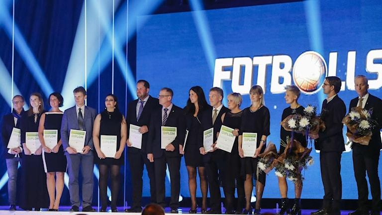 Fotbollsföräldrar på scen. Foto: SvFF.