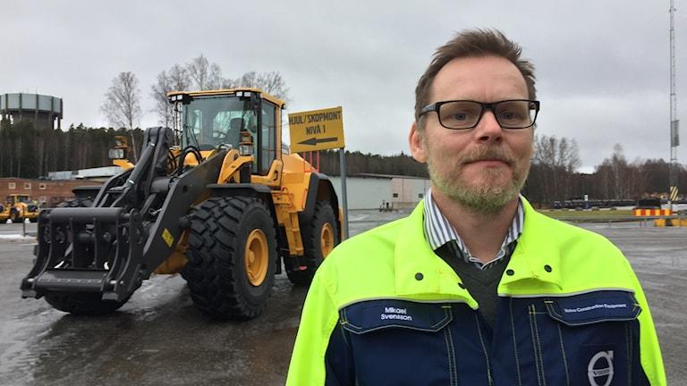 Mikael Svensson, platschef på Volvo CE i Arvika
