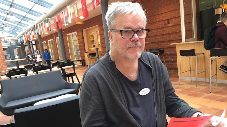 Janne Larsson, rektor på Södermalmsskolan i Kristinehamn. Foto: Jenny Tibblin/Sveriges Radio.