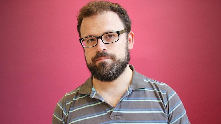 Andreas Henriksson, forskare i sociologi. Foto: Lars-Gunnar Olsson/Sveriges Radio.