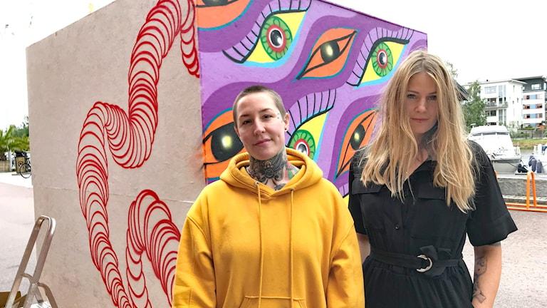 Mona Johansson och Marthe Hem. Foto: Victoria Svärd Karlsson/Sveriges Radio.