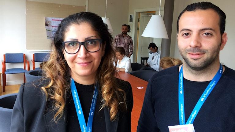 Nadja Jabar och Hasan Alhamwi. Foto: Per Larsson/Sveriges Radio.