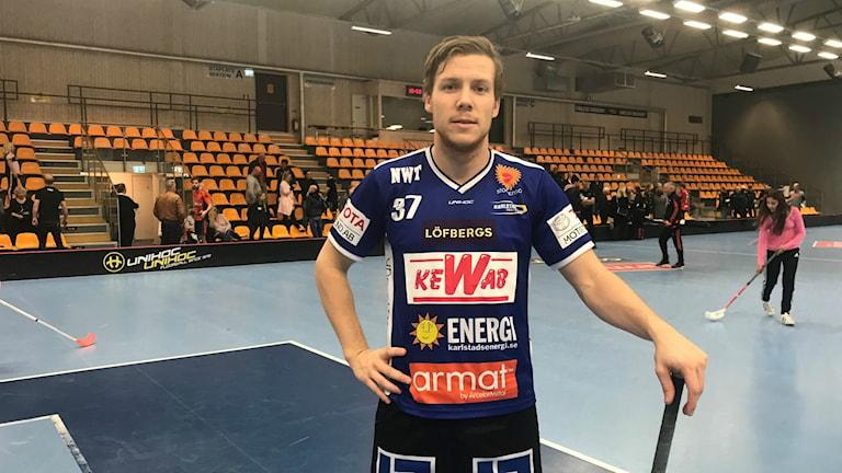 Simon Sjögren och Karlstad knep tre nya poäng. Foto: Daniel Viklund/ Sveriges Radio.