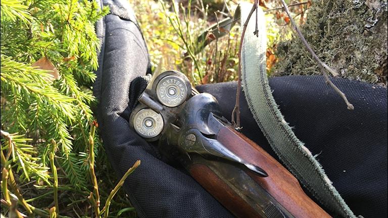 jakt hagel gevär utrustning jägare värmland