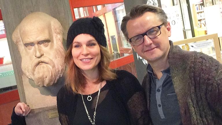 Cecilie och Christer Nerfont. Foto: Per Larsson/Sveriges Radio.