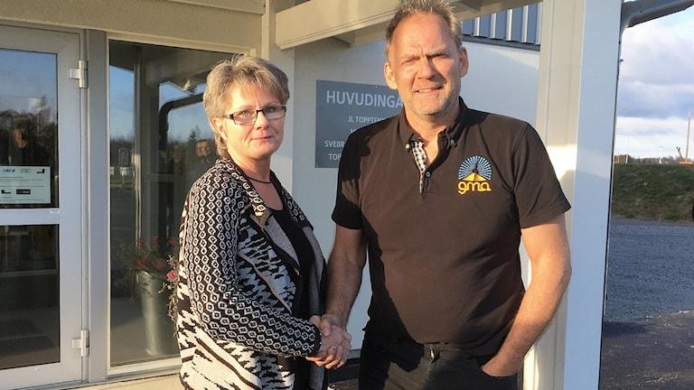 Gunilla Ingemyr (C) och Lars Eriksson, GMA i Sunne.