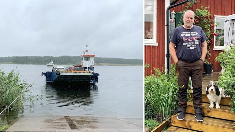 Jäveröfärjan och Anders Rundqvist. Foto: Frida Granström/Sveriges Radio