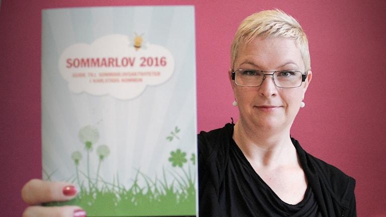 Åsa Svanström, barn- och ungdomskultursekreterare på Karlstads kommun. Foto: Lars-Gunnar Olsson/Sveriges Radio.