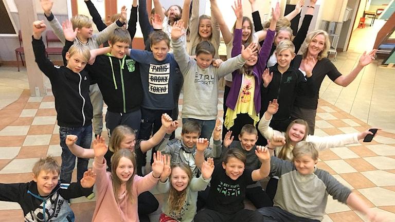 Tolita skolan 5A. Foto: Sara Johansson/Sveriges Radio.
