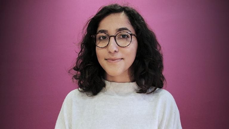 Aida Badeli, ledamot i Grön ungdoms förbundsstyrelse. Foto: Lars-Gunnar Olsson/Sveriges Radio.