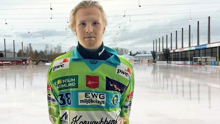 Johannes Gustavsson, målvakt i Boltic. Foto: Daniel Viklund/Sveriges Radio.
