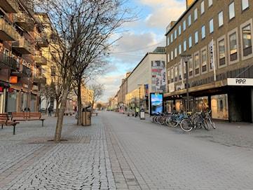 """Nya pandemilagen: """"Det har sett glest och bra ut i centrala Karlstad."""""""