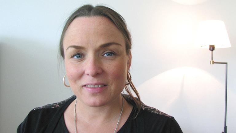 Linda Larsson (S), kommunalråd i Karlstad. Foto: Magnus Hermansson/Sveriges Radio.