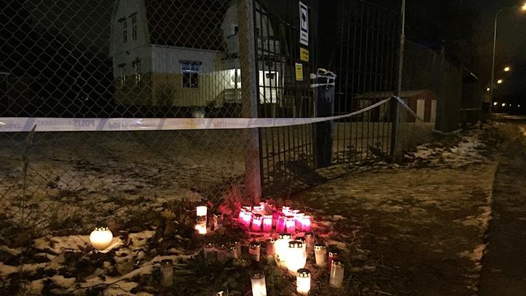Platsen där en man mördades på Sjöstad i Karlstad.