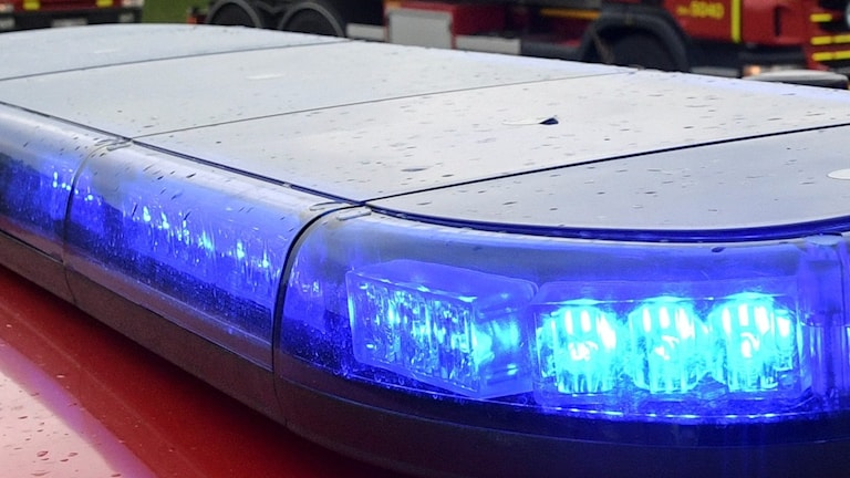 Blåljus från räddningstjänstfordon. Foto: Johan Nilsson/TT.