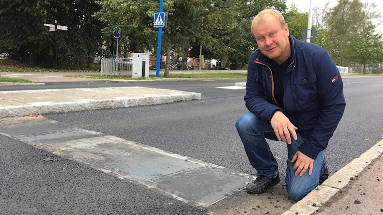 Henrik Lander (C), ordförande i Teknik- och fastighetsnämnden. Foto: Gustav Jacobson/Sveriges Radio.