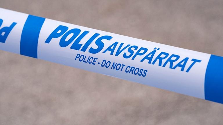 Avspärrningsband. Foto: Johan Nilsson/TT.