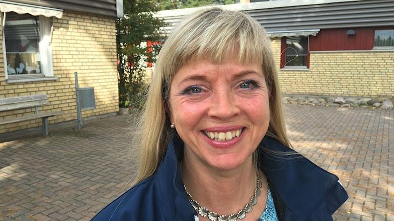 Cecilia Ericzon, huvudskyddsombud och biträdande kommunombud för Lärarnas riksförbund i Karlstad. Foto: Magnus Hermansson/Sveriges Radio.
