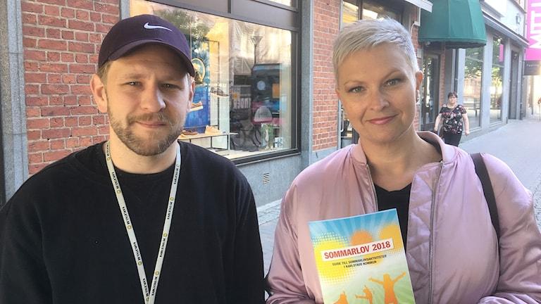 Henrik Tågh och Åsa Svanström. Foto: Per Larsson/Sveriges Radio.