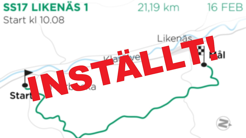 En kartbild med texten inställt på. Grafik: TT
