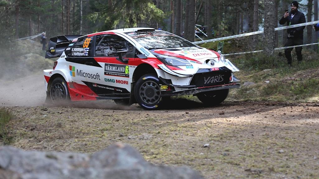 Kalle Rovanperä under en rallytränng. Foto: Örjan Bengtzing/Sveriges Radio.