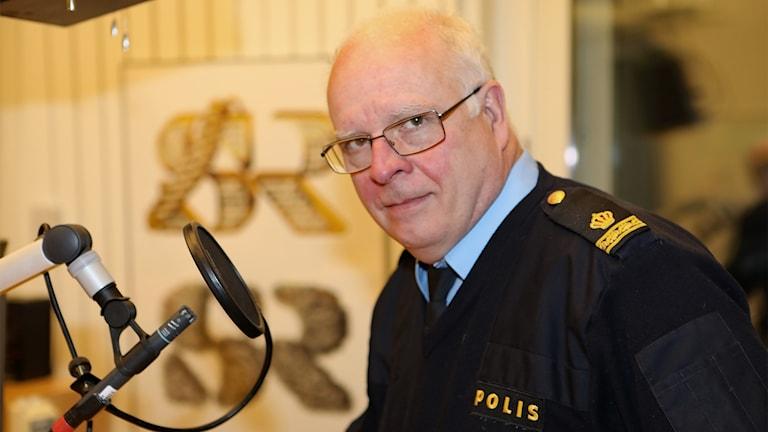 Stefan Wickberg, pressinformatör polisen Värmland. Foto Örjan Bengtzing/Sveriges Radio.