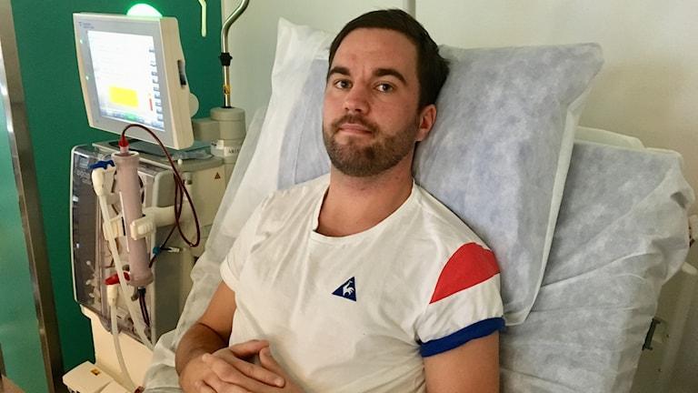 Tim Öberg väntar på en ny njure.