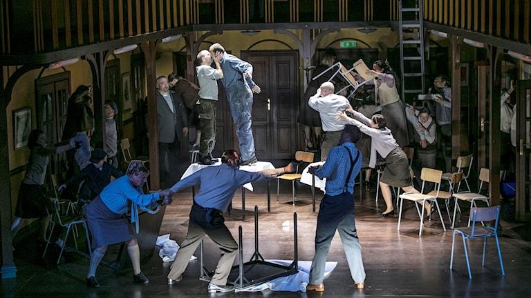 Scen ur operan The Greek Passion