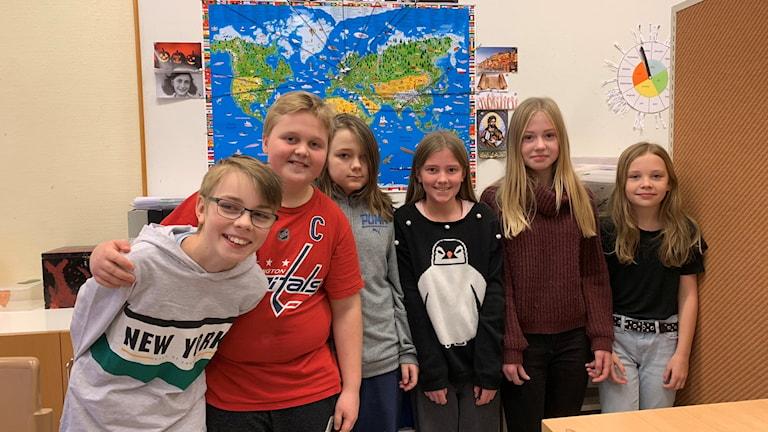 Femteklassare på Brattfors skola