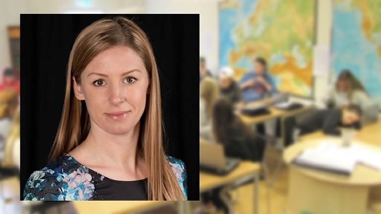 Johanna Wilkens, PR-ansvarig på Friends. Foto: Friends och Sveriges Radio.
