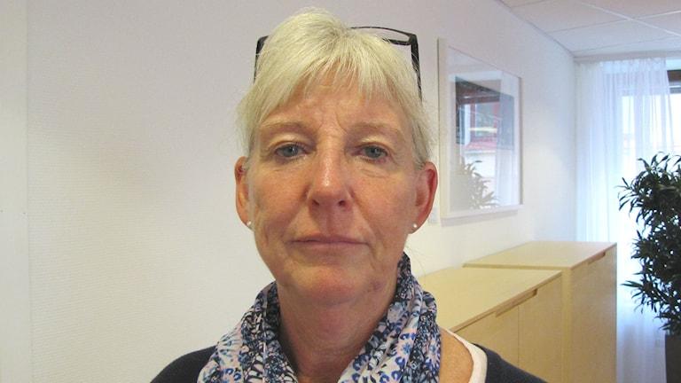 Birgitta Johannesson, enhetschef på Inspektionen för vård och omsorg. Foto: Magnus Hermansson/Sveriges Radio.