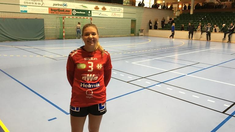 Helltons lagkapten Lina Hillgren var nöjd efter matchen.