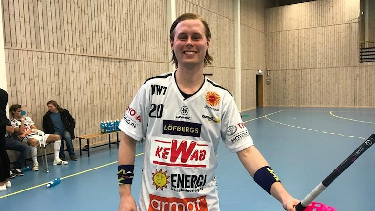 Adam Colling och Karlstad hade målkalas i derbyt mot Skoghall. Foto: Daniel Viklund/ Sveriges Radio.