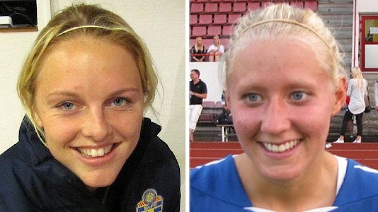 Mimmi Larsson och Julia Spetsmark. Foto: Sveriges Radio.