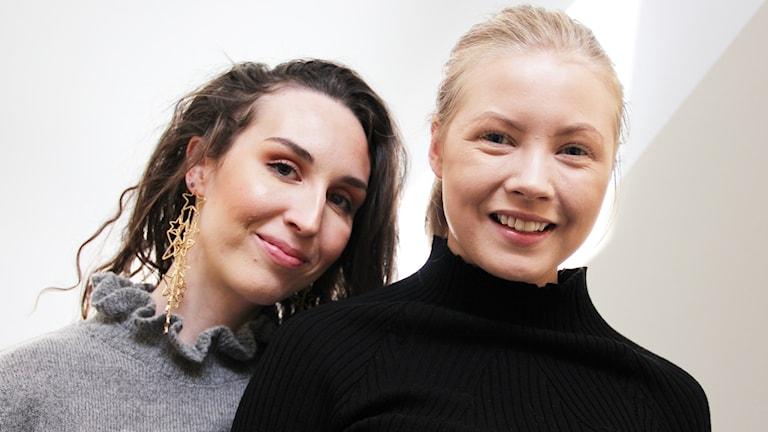 Emma Westas och Siri Strand. Foto: Lars-Gunnar Olsson/Sveriges Radio.