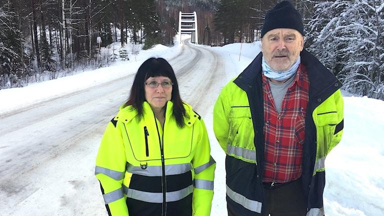 Carina Jonsson och Hans Nordberg. Foto: Louise Uhlin/Sveriges Radio.