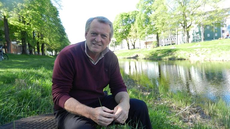 Bo Landin invid pråmkanalen i Karlstad.