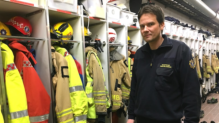 Tobias Erlandsson, enhetschef räddningstjänsten Arvika och Eda.