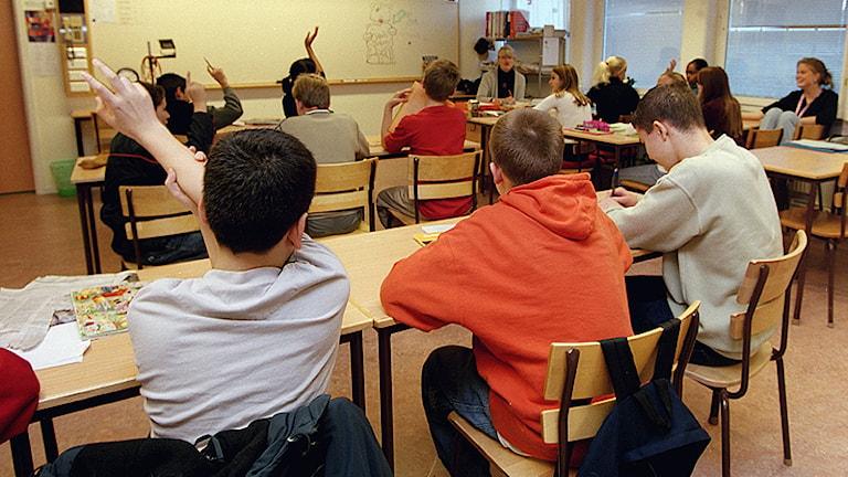 Elever i ett klassrum. Foto: Erik G Svensson/Scanpix