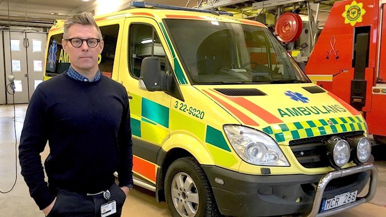 Wolmer Edqvist, verksamhetschef ambulanssjukvården. Foto: Annika Ström/Sveriges Radio