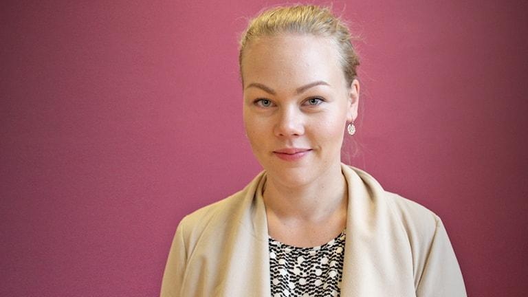 Jenni Laapotti, digital medeiastrateg. Foto: Lars-Gunnar Olsson/Sveriges Radio.