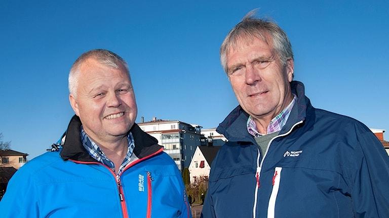 Anders Johansson (S) och Bengt Forsberg (C), kommunalråd i Kil. Foto: Kils kommun