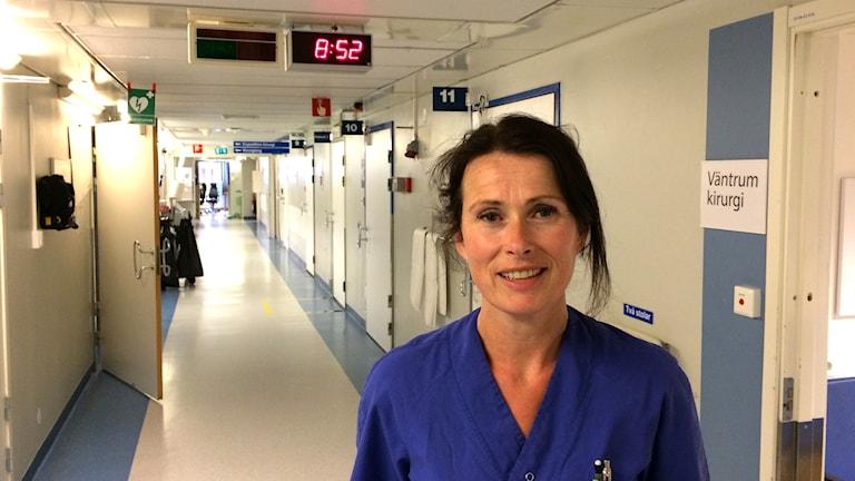 Kristina Schyman, avdelningschef på akuten i Karlstad