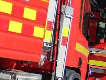 Man gripen efter sju containerbränder