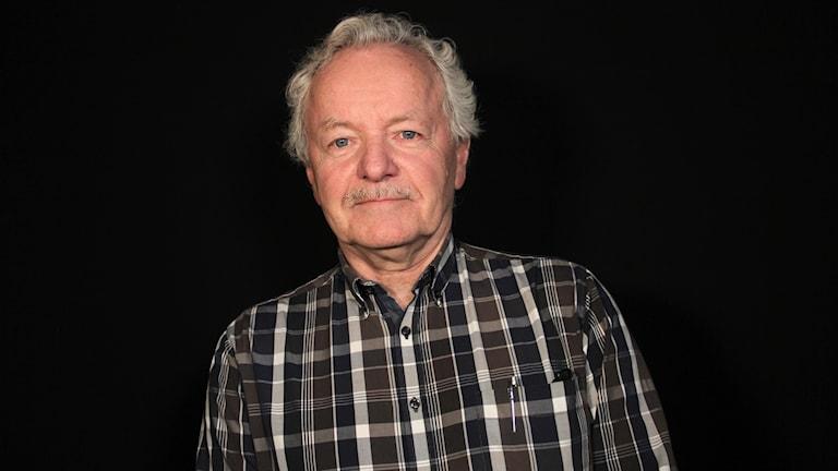 Ingemar Robertsson, pensionerad officer. Foto: Lars-Gunnar Olsson/Sveriges Radio.