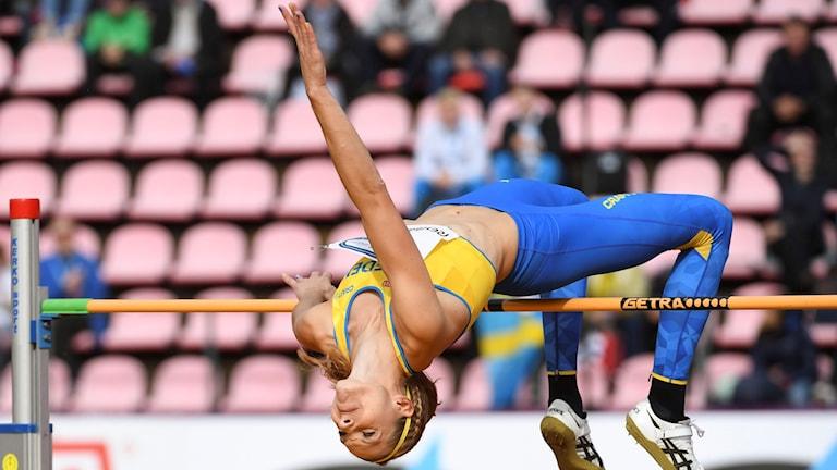 Sofie Skoog i höjdhoppstävlingen